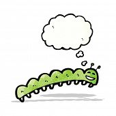 stock photo of caterpillar cartoon  - cartoon caterpillar - JPG