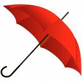 Постер, плакат: Красный зонт