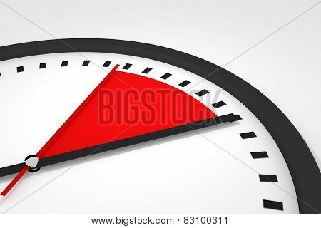 Clock With Red Seconds Hand Time Illustration