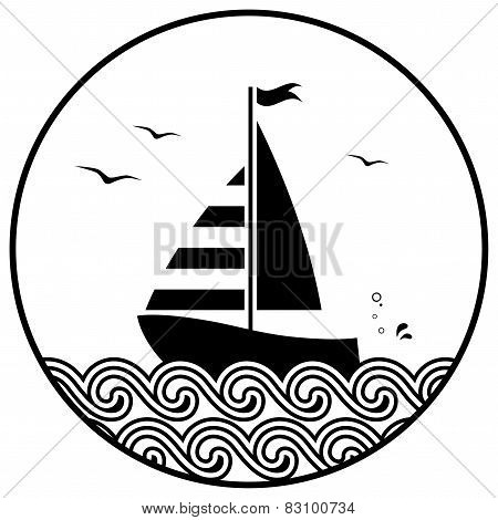 Floating Sailboat