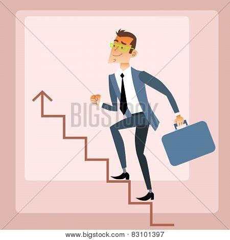 Businessman climbs growing schedule