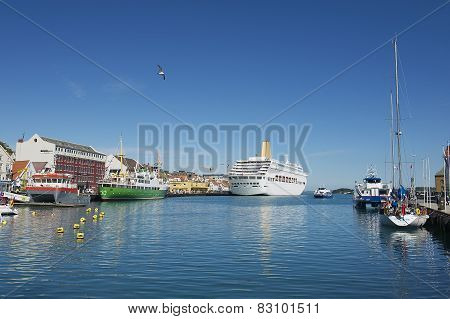 Exterior of the Stavanger cruise harbour in Stavanger, Norway.