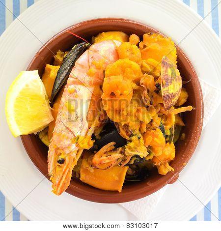 Mediterranean Seafood Dish