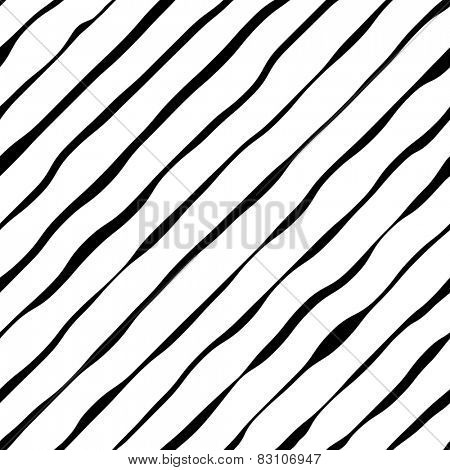 Abstract wavy diagonal stripes vector background.