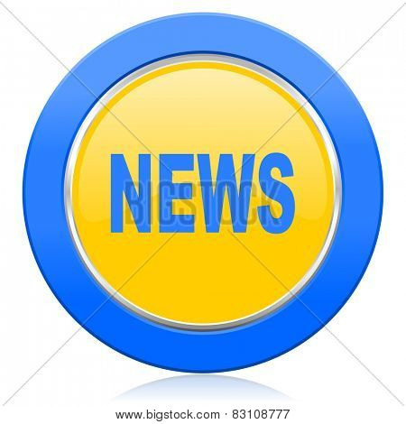 news blue yellow icon