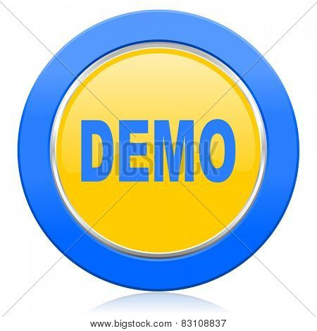 demo blue yellow icon