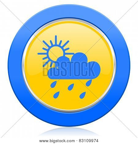 rain blue yellow icon waether forecast sign