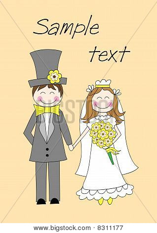 Doodle groom and bride