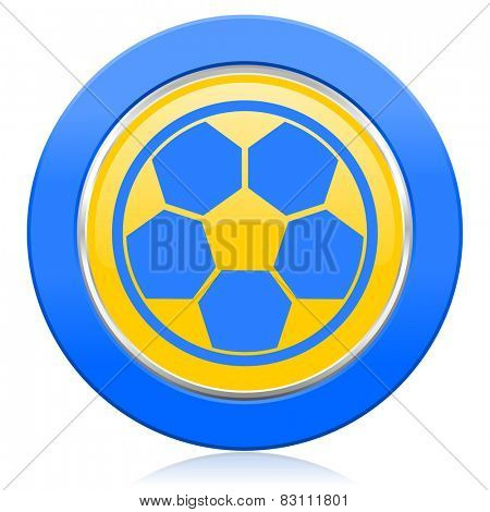 soccer blue yellow icon football sign