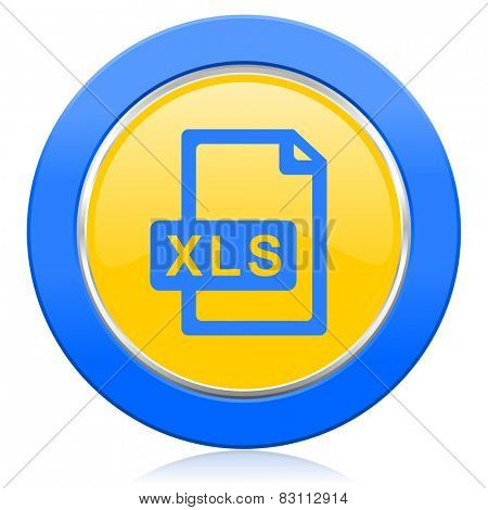 xls file blue yellow icon