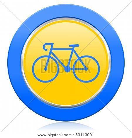bicycle blue yellow icon bike sign