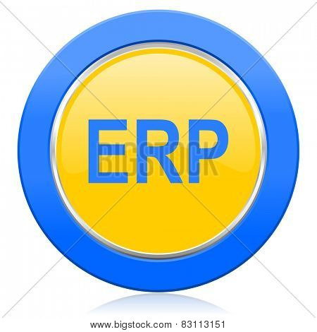 erp blue yellow icon