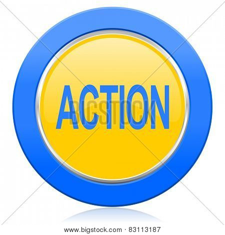 action blue yellow icon