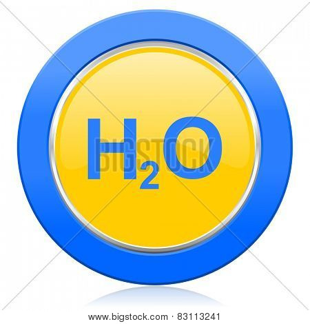 water blue yellow icon h2o sign