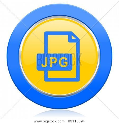 jpg file blue yellow icon
