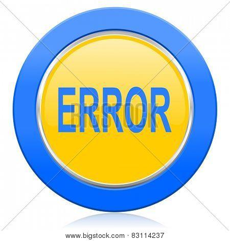 error blue yellow icon