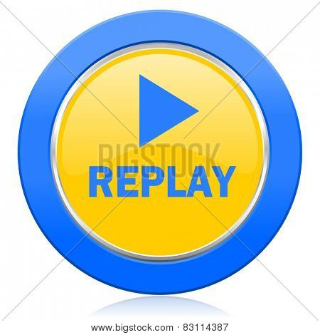 replay blue yellow icon