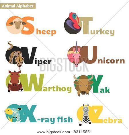 Animal alphabet 4.
