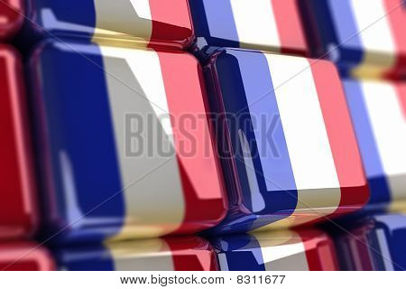 French Flag-cube