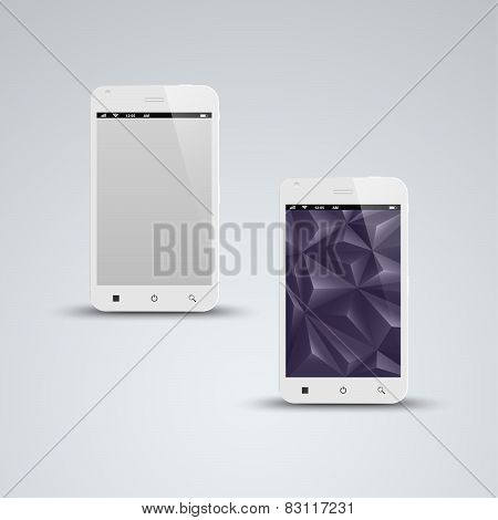 Abstract White Smart Phone Background