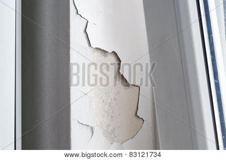 Cracking And Peeling Concrete Wall