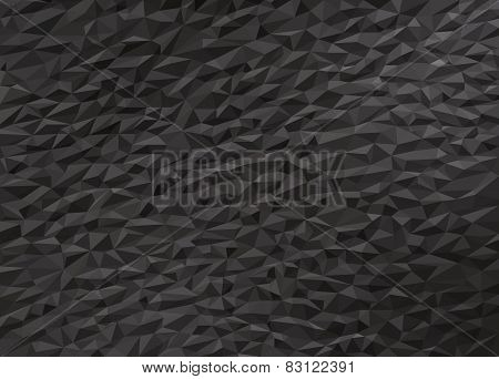 Gray Black Low Poly Background