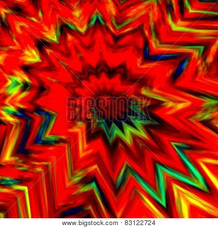 Bang background. Abstract colorful energetic creative art. Bomb explosion. Digital fractal image.