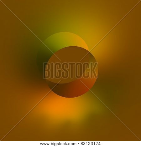 Flat 3d isometric hole. Abstract orange green background. Modern design.