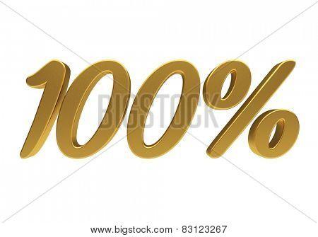 100 percent off. Discount 100. 3D illustration