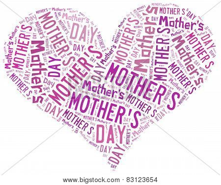 Mother's Day Greeting Card. Word Cloud Illustration.