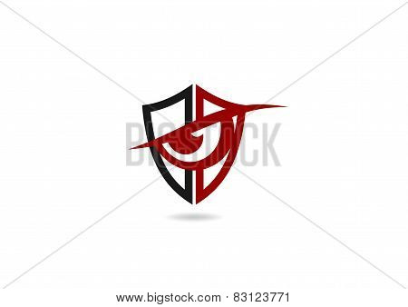 shield  logo protection symbol, loop icon