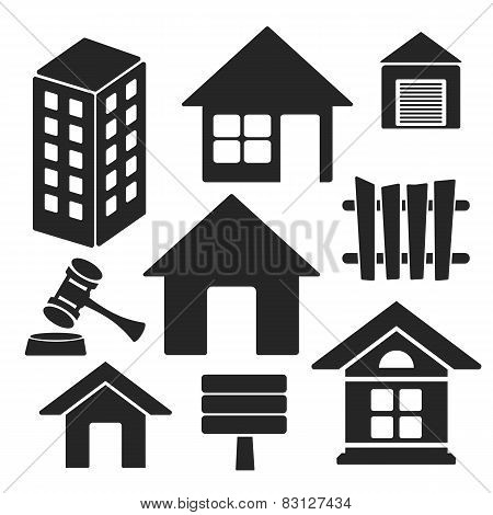 Set Of Real Estate Web And Mobile Vector Icons