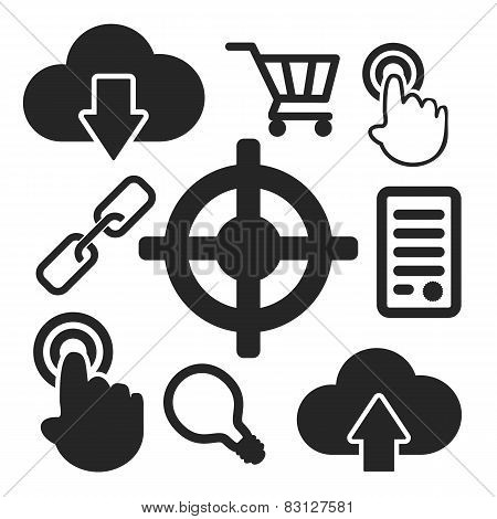 Set Of Seo Web And Mobile Icons. Vector.