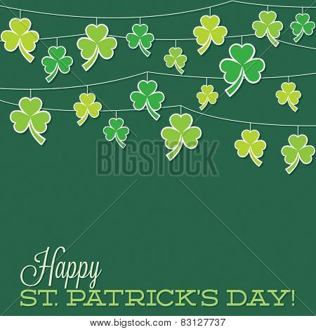 Retro Shamrock String St. Patrick's Day Card In Vector Format.