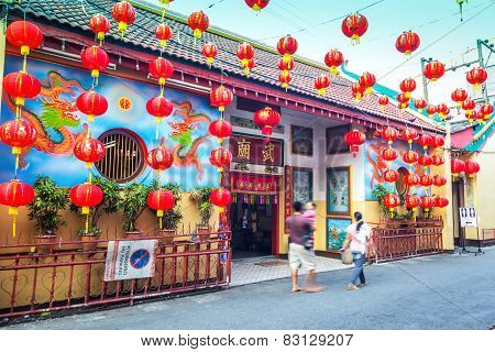 Red Chinese Lanterns Display