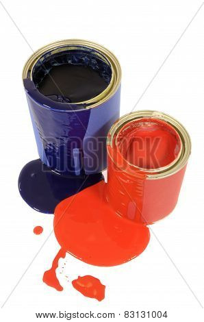 Messy Paint Tins