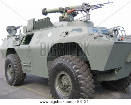 Military - tank with machine gun