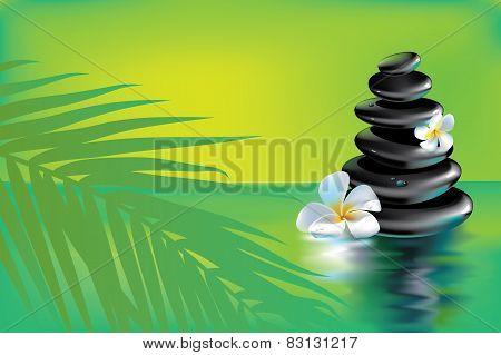 Spa stones in tropics