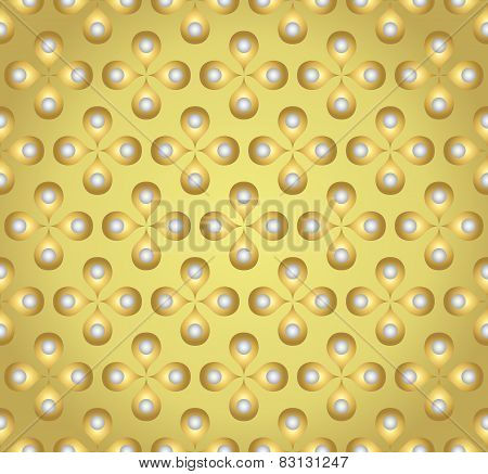 Gold Sweet Flower And Pollen On Pastel Background