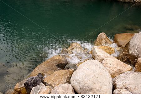 river and stones