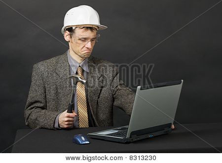 Man Intends Independently To Repair Computer