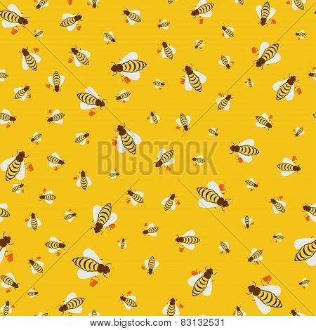 Seamless Texture Of Bees