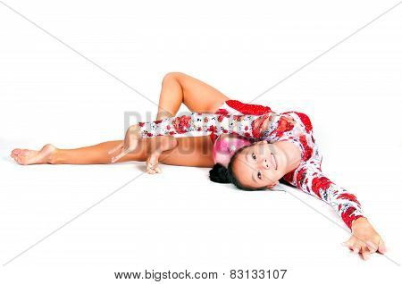 Beautiful Asian Girl Gymnast
