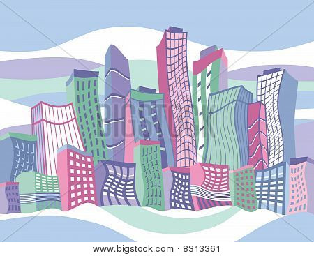 Wavy Cartoon City