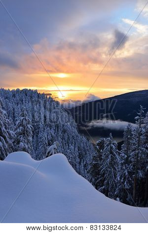 Sunset On Grouse Mountain