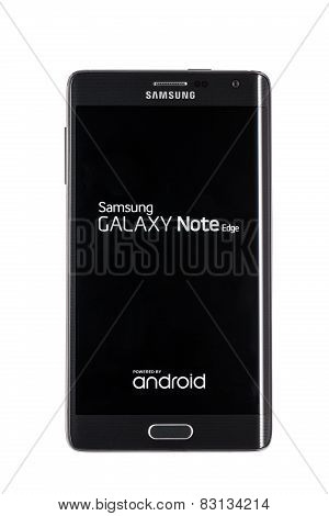 Studio Shot Of A Black Samsung Galaxy Note Edge