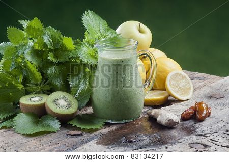 Detox Drink For A Vegetarian Diet Nettles Shake