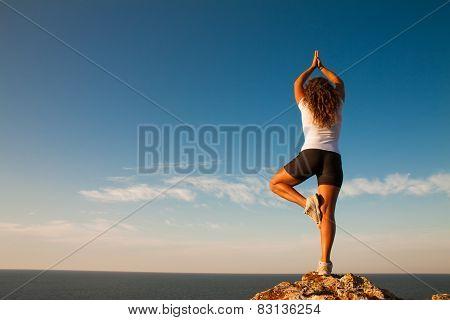 Healthy Woman  Practice Yoga