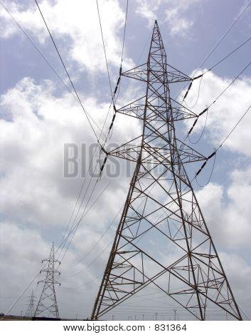 power polls, power poles