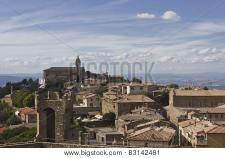 View Of Montalcino City From Its Castle